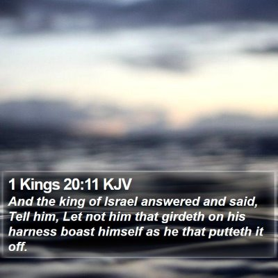 1 Kings 20:11 KJV Bible Verse Image