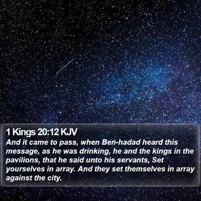 1 Kings 20:12 KJV Bible Verse Image