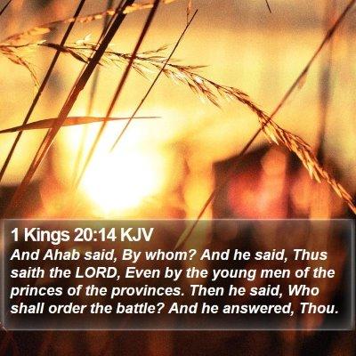 1 Kings 20:14 KJV Bible Verse Image