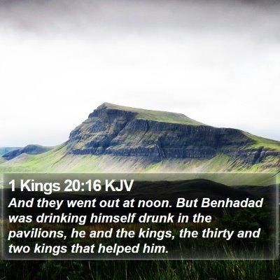 1 Kings 20:16 KJV Bible Verse Image