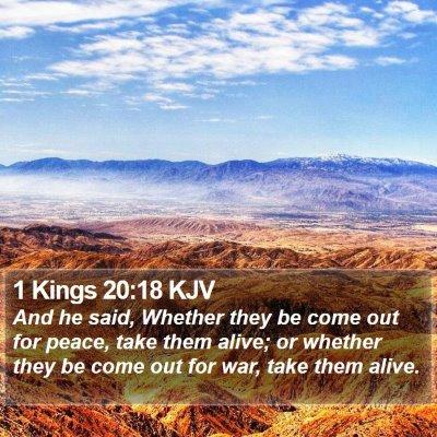1 Kings 20:18 KJV Bible Verse Image