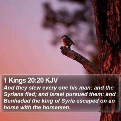 1 Kings 20:20 KJV Bible Verse Image