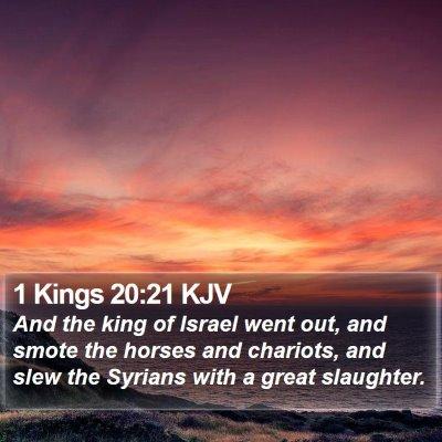 1 Kings 20:21 KJV Bible Verse Image