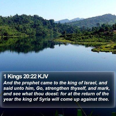 1 Kings 20:22 KJV Bible Verse Image