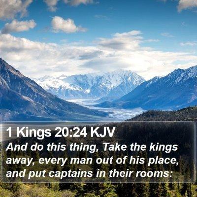 1 Kings 20:24 KJV Bible Verse Image