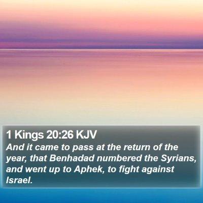 1 Kings 20:26 KJV Bible Verse Image