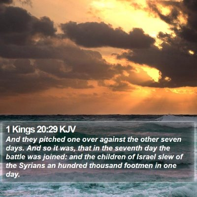 1 Kings 20:29 KJV Bible Verse Image