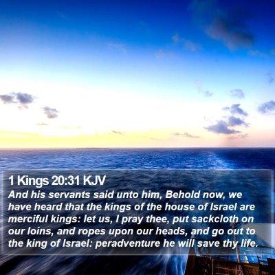 1 Kings 20:31 KJV Bible Verse Image
