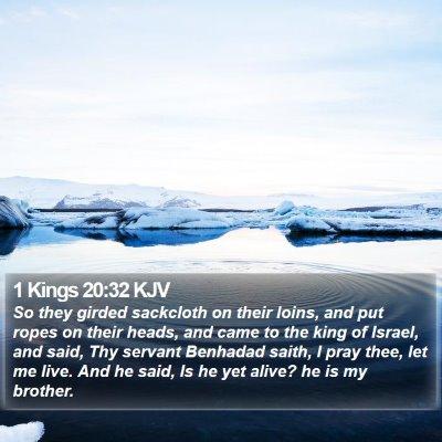 1 Kings 20:32 KJV Bible Verse Image