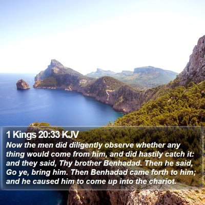 1 Kings 20:33 KJV Bible Verse Image