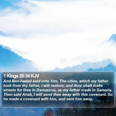 1 Kings 20:34 KJV Bible Verse Image