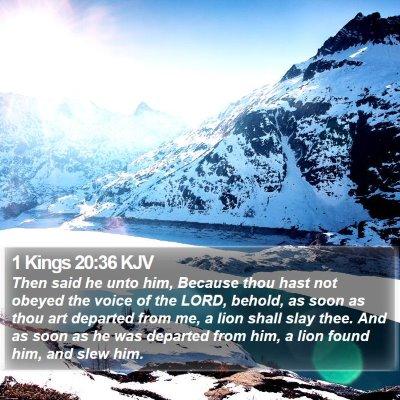 1 Kings 20:36 KJV Bible Verse Image