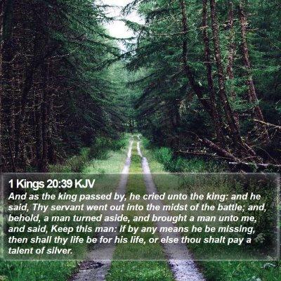 1 Kings 20:39 KJV Bible Verse Image