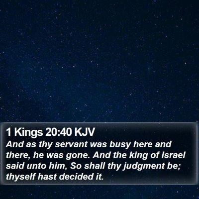 1 Kings 20:40 KJV Bible Verse Image