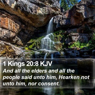1 Kings 20:8 KJV Bible Verse Image