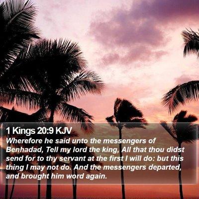 1 Kings 20:9 KJV Bible Verse Image