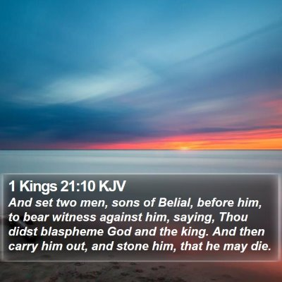1 Kings 21:10 KJV Bible Verse Image