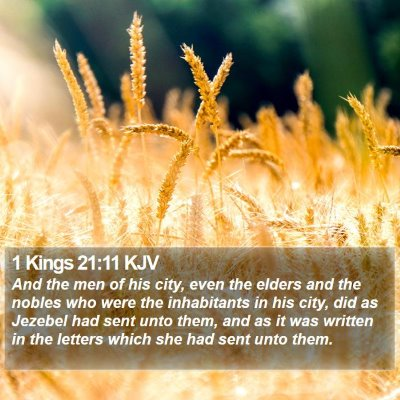 1 Kings 21:11 KJV Bible Verse Image
