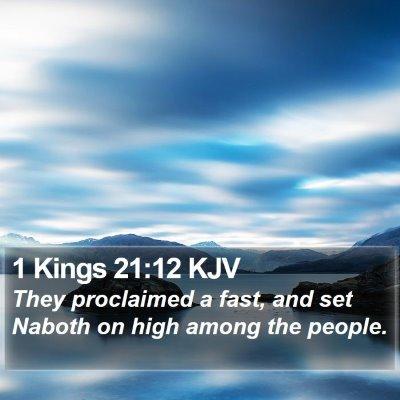 1 Kings 21:12 KJV Bible Verse Image