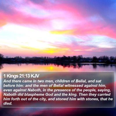 1 Kings 21:13 KJV Bible Verse Image
