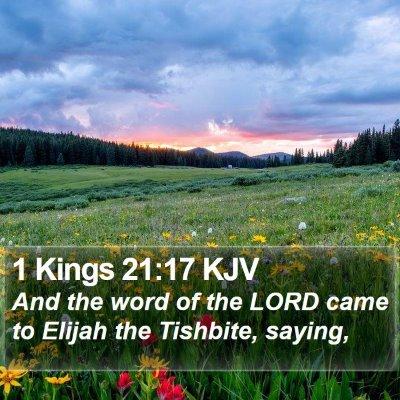 1 Kings 21:17 KJV Bible Verse Image