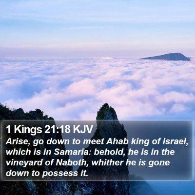 1 Kings 21:18 KJV Bible Verse Image