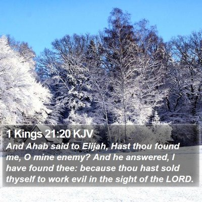 1 Kings 21:20 KJV Bible Verse Image