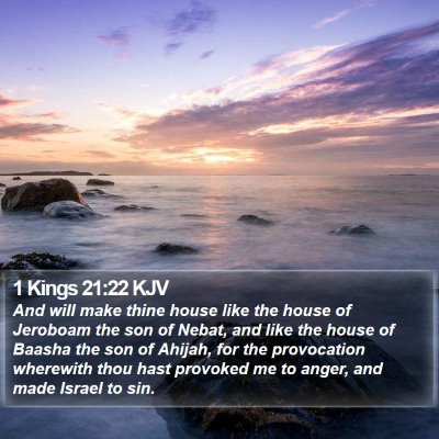 1 Kings 21:22 KJV Bible Verse Image