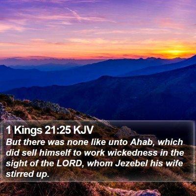 1 Kings 21:25 KJV Bible Verse Image