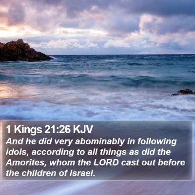 1 Kings 21:26 KJV Bible Verse Image