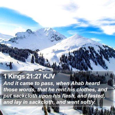 1 Kings 21:27 KJV Bible Verse Image