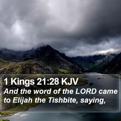 1 Kings 21:28 KJV Bible Verse Image