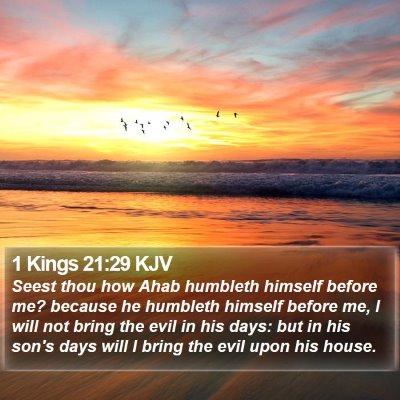 1 Kings 21:29 KJV Bible Verse Image