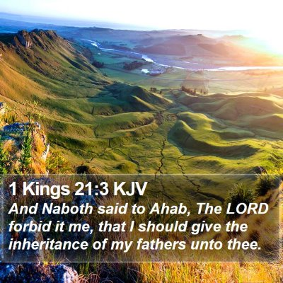 1 Kings 21:3 KJV Bible Verse Image