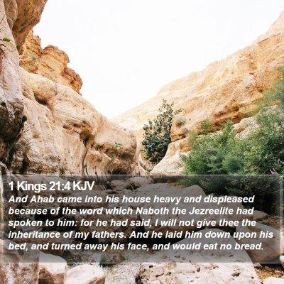 1 Kings 21:4 KJV Bible Verse Image