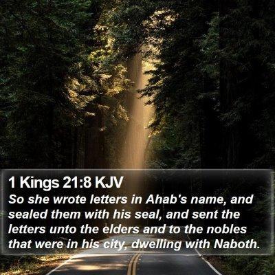 1 Kings 21:8 KJV Bible Verse Image