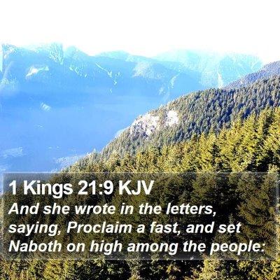 1 Kings 21:9 KJV Bible Verse Image
