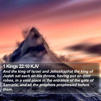 1 Kings 22:10 KJV Bible Verse Image