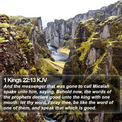 1 Kings 22:13 KJV Bible Verse Image