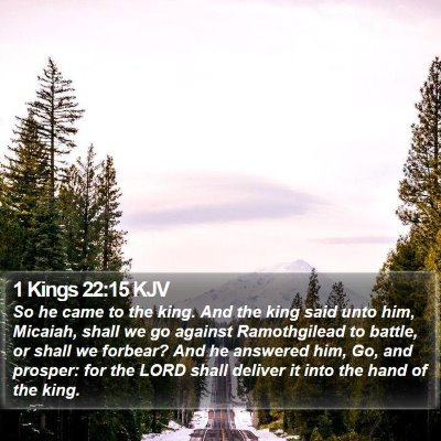1 Kings 22:15 KJV Bible Verse Image