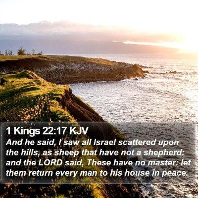 1 Kings 22:17 KJV Bible Verse Image