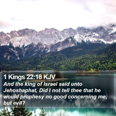 1 Kings 22:18 KJV Bible Verse Image