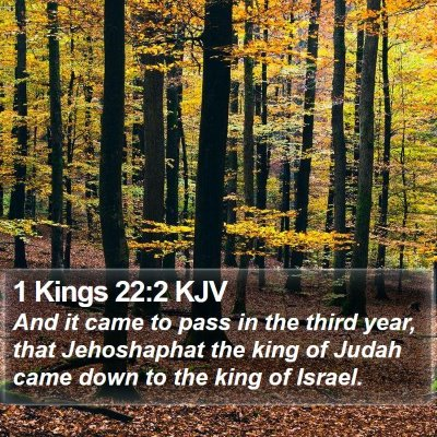 1 Kings 22:2 KJV Bible Verse Image