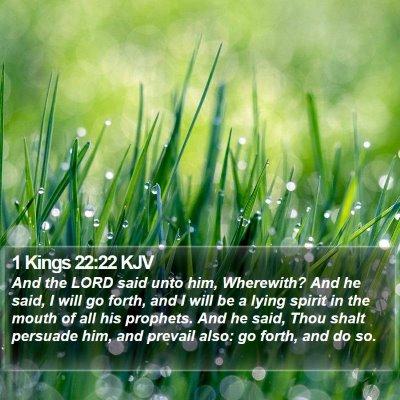 1 Kings 22:22 KJV Bible Verse Image