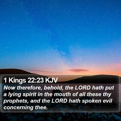 1 Kings 22:23 KJV Bible Verse Image