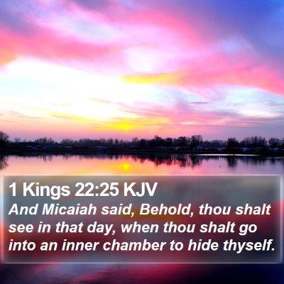 1 Kings 22:25 KJV Bible Verse Image