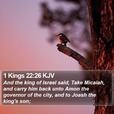 1 Kings 22:26 KJV Bible Verse Image