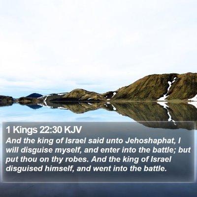 1 Kings 22:30 KJV Bible Verse Image