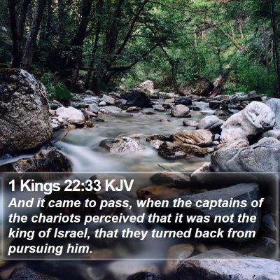 1 Kings 22:33 KJV Bible Verse Image