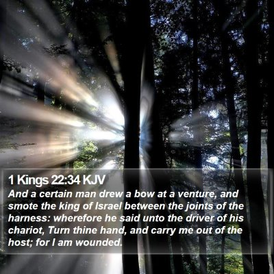 1 Kings 22:34 KJV Bible Verse Image